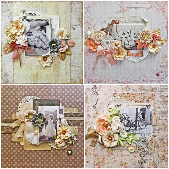 Wedding Scrapbook Kit: Wedding Scrapbook Kit / Scrapbook Kit / By MyScrapCabinShop