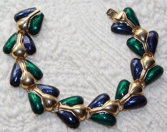 Joan Rivers Bracelet - Blue and Green Enamel - S1808