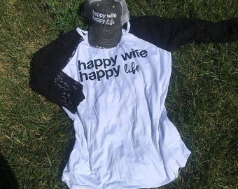 Hat Or Shirt{Happy wife happy life}
