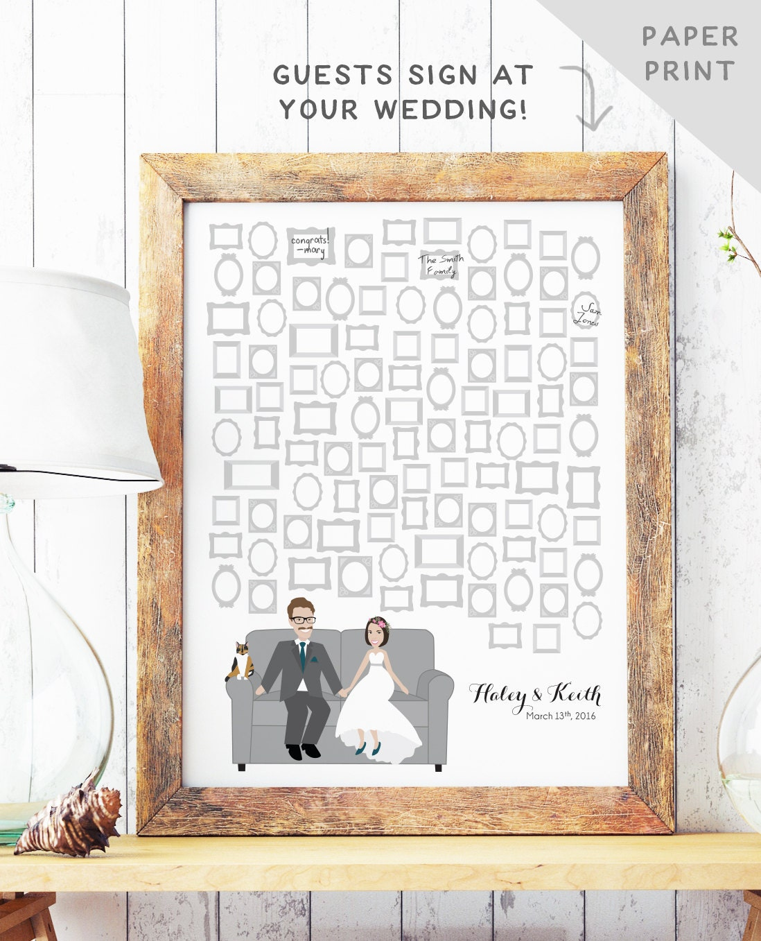 Guest Book Alternative with Picture Frames Unique Wedding