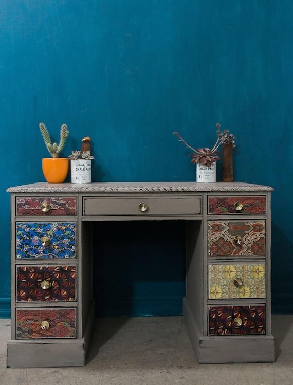 Bohemian Floral Vintage Desk