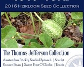 The Thomas Jefferson Collection - Heirloom, non-GMO Seed Collection