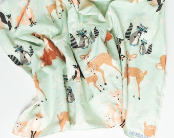 Minky Baby Blanket Minky Blanket Baby Blankets Baby Blanket Minky Receiving Blanket Baby Blankets Handmade Minky Baby Blanket Boy Woodland