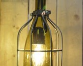 Custom Order for Ricki Peterson: Large Chandelier with 4 Metal Accent Cages