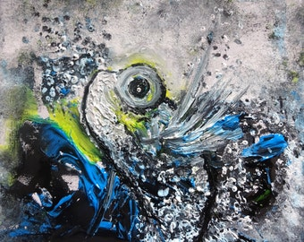 Fish - Wall Art - Acrylic Painting - Ocean - Palette Knife - Fine Art - UK Art - Original Painting - Home Decor - Paintings - Sea - Water