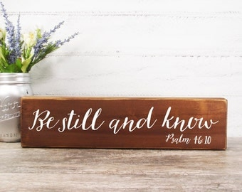 Brand New Bible Verses Block Signs Made From Reclaimed Wood- Country Decor- Farmhouse Decor