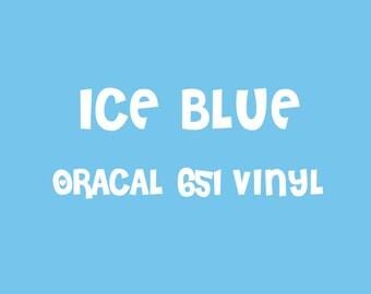 Oracal Ice Blue Adhesive Vinyl - 651 High Performance Vinyl