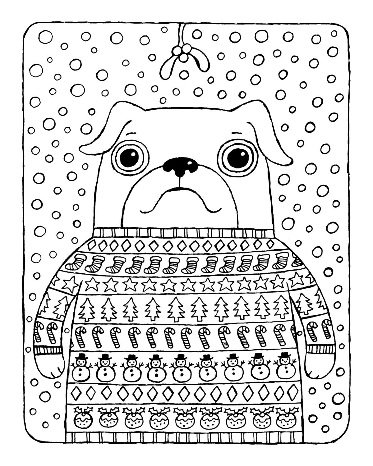 pugs coloring pages to print - photo#17