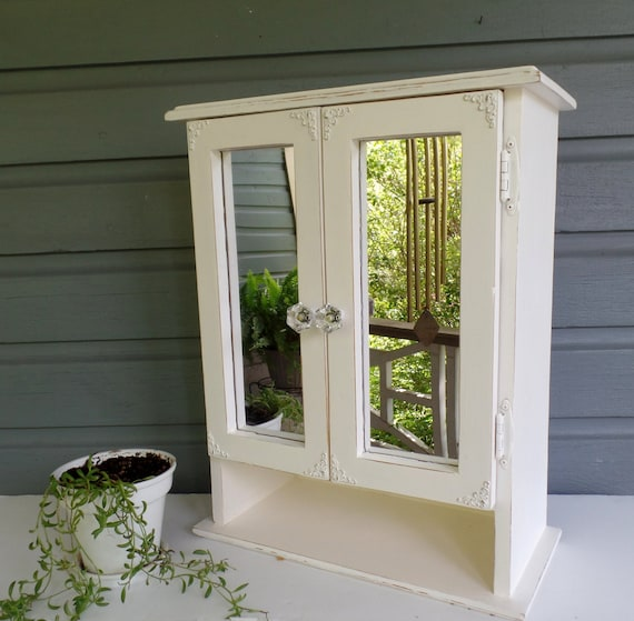 shabby chic mirrored bathroom cabinet shabby chic medicine cabinet large vintage wood bathroom 25961