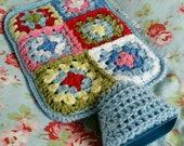 Hot Water Bottle 1.5L with removable crocheted cover