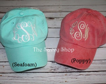 Monogrammed baseball hat, monogrammed hat, comfort colors baseball hat
