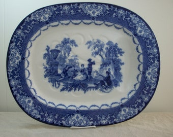 Doulton Flow Blue Well and Tree Platter