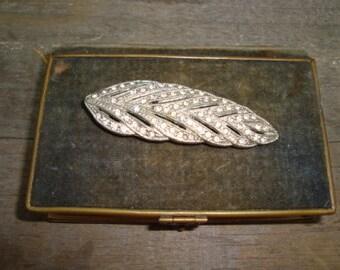 Vintage Art Deco Fur Clip Leaf
