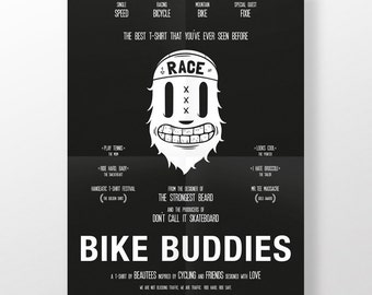 Poster · Bike buddies · DIN A2