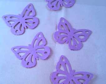 Set of 50 Paper butterflies die cuts, ideal for party, special events, wedding, baby shower, wedding, decorations