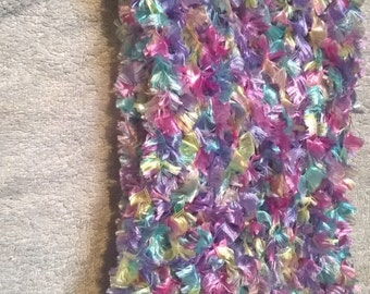 Baby Coloured Knitted Scarf