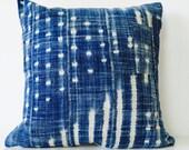 """Vintage Indigo Pillow Cover - 19x19"""""""