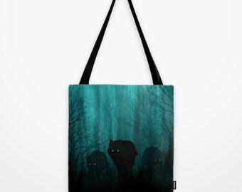 Canvas Tote Bag | Wolf Tote Bag | Hippie Tote Bag | Forest Tote Bag | Hipster Tote Bag | Grocery Tote Bag | College Tote Bag