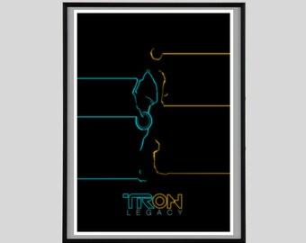 Tron Legacy, Print, Movie, Gift, A2