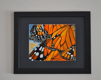 Monarchs - Butterfly Print - Monarch Butterfly Wall Art - Various Sizes