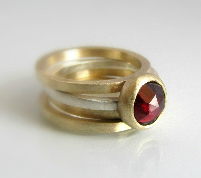 garnet ring birthstone ring gemstone ring stackable rings