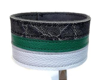 Mens bracelets, mens leather cuffs, mens bracelet cuffs, mens wristbands, mens armbands, gray green, leather armband, leather wristband.