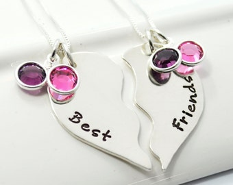 Hand-Stamped Best Friend Necklace Set | BFF Necklaces | Personalized Necklace Set