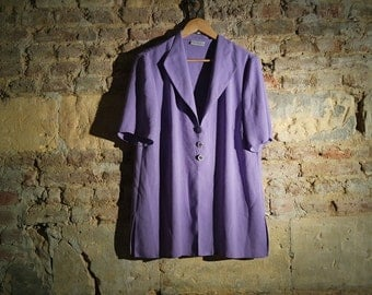 Vintage purple jacket blouse with two beautiful buttons