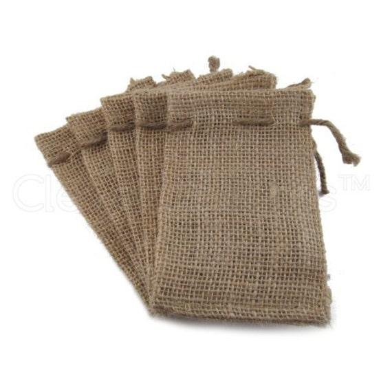 Wedding Favor Jute Bags : 100 Burlap Bags3x5Wedding Favor BagsDrawstring BagsBurlap ...