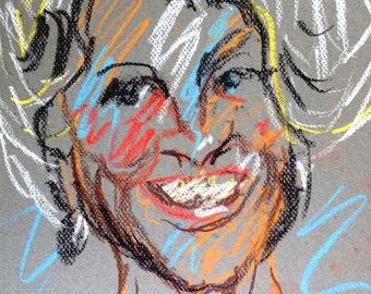 Original Pastel Drawing from Artisan - Mrs. B.