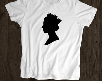 Queen Silhouette  T shirt   - Screen Printed women T Shirt -100% Cotton-