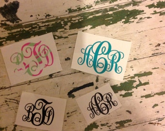 3in personalized initials