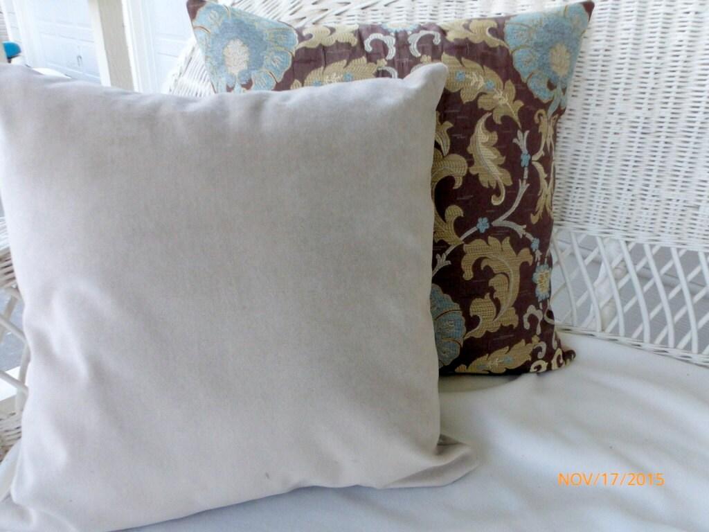 Taupe Velvet pillow cover Decorative Pillow Covers velvet