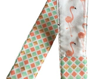 NEW! Peach and Mint Green Flamingo Camera Strap Cover