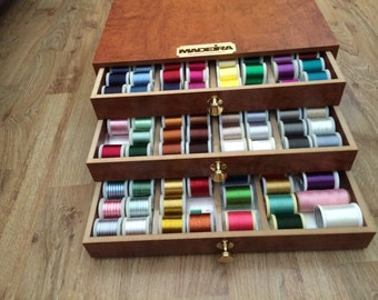 Madeira Thread Treasure Chest with Machine Embroidery Thread