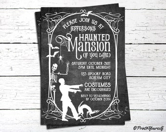 Haunted Mansion Invitation // Personalized Printable Haunted Mansion Halloween Party Invitation // Halloween Invitation // Halloween