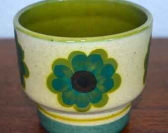 Small Vintage Flower Patterned Pot - Portugal