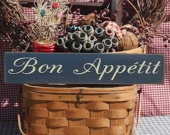 Bon Appetit painted primitive rustic wood sign
