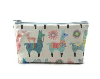 Llama Love Makeup Bag, Tampon Case,, Zipper Pouch, Toiletry Bag, Zippered Cosmetic Bag, Coin Purse, Gadget Bag, Zippered Bag, Glam Bag