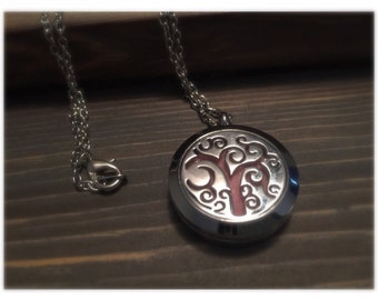 Stainless Steel Essential Oil Diffuser Locket, Diffuser Necklace, Aromatherapy Jewelry, 30mm