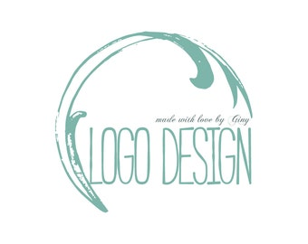 DIGITAL Custom logo design, wave water Logo and watermark, Professional Business Logo, graphic design, blue wave logo design