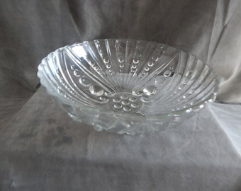 Vintage 1930's-1940's Hobnail  Swirl Footed Bowl