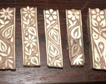Wood Fabric Printing Blocks from INDIA circa 1950's