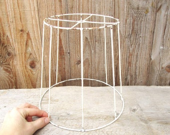 Wire lampshade frame etsy au lamp shade wire frame round metal hanging lampshade lighting fixture lamp supply keyboard keysfo Choice Image