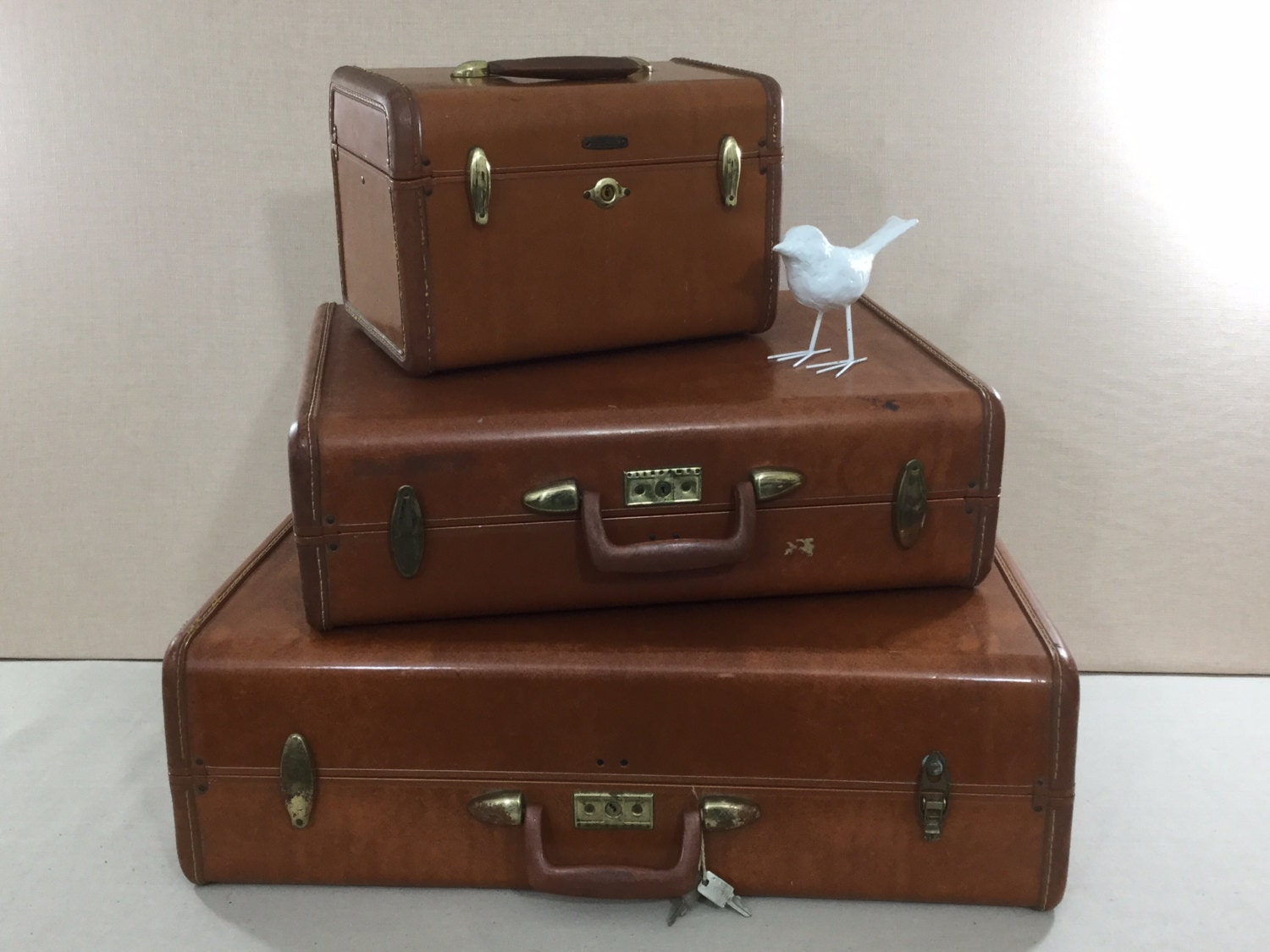 Vintage suitcase samsonite luggage set retro hard sided - Vintage suitcase ...