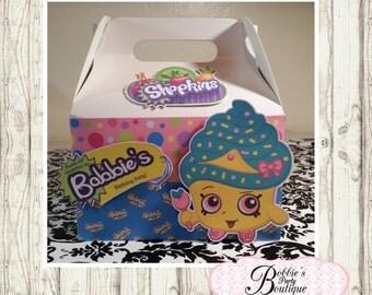 Shopkins favor box, Shopkins gable box, 10 Shopkins party favor gable box, Shopkins favor box