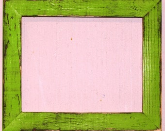 "1-1/2"" Lime Distressed Picture Frame"