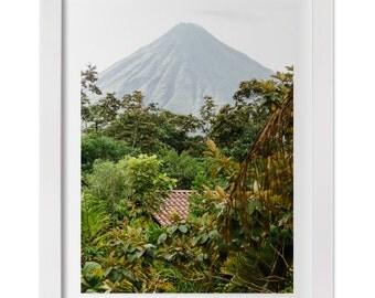 Arenal Volcano Print, Costa Rica Landscape Photography, Nature Photography, Costa Rica Art, Large Wall Decor, Custom Sizes