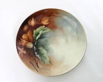 Haviland Limoges Hand Painted Porcelain Decorative Plate - Autumn Fall Home Decor