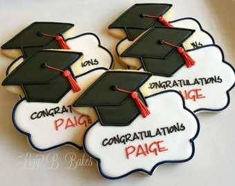 12 Personalized Graduation Cookies!